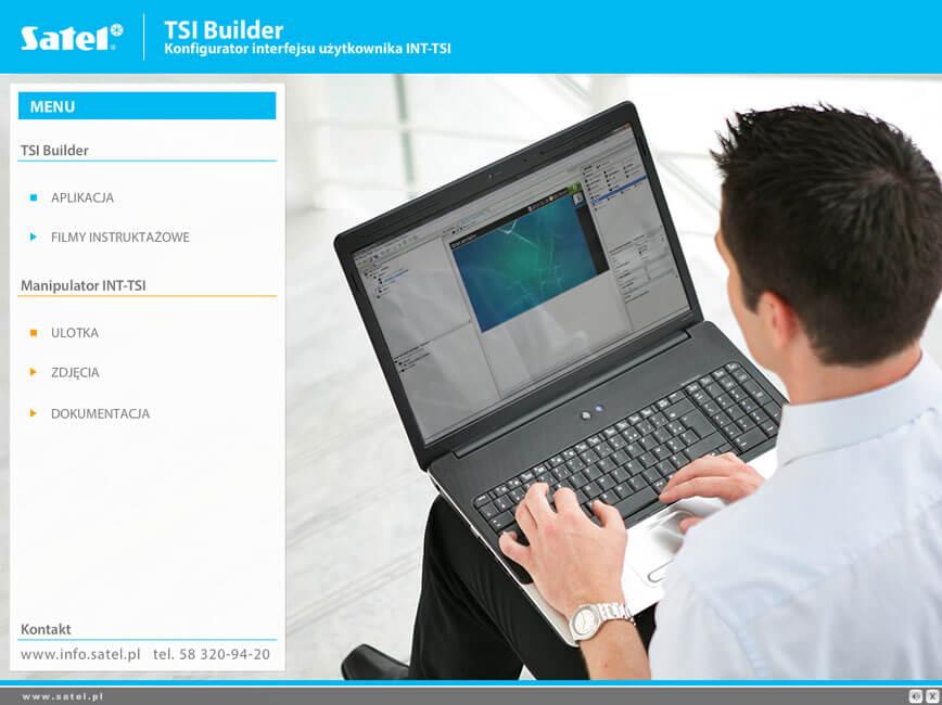 Aplikacja TSI Builder - zaawansowana konfiguracja interfejsu użytkownika INT-TSI SATEL