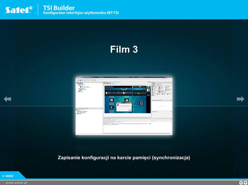 Filmy instruktażowe - TSI Builder Konfigurator interfejsu użytkownika INT-TSI SATEL
